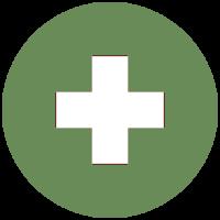 Wykorzystano logo aplikacji w postaci krzyża na zielonym, okrągłym tle